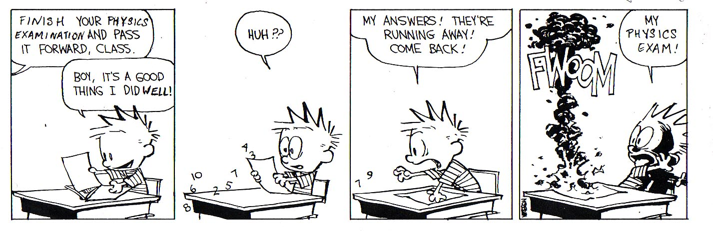 calvin and hobbes college essay Check your application status use your email and pin (check your email or admission letter) to access your calvin application status page be sure to check back.