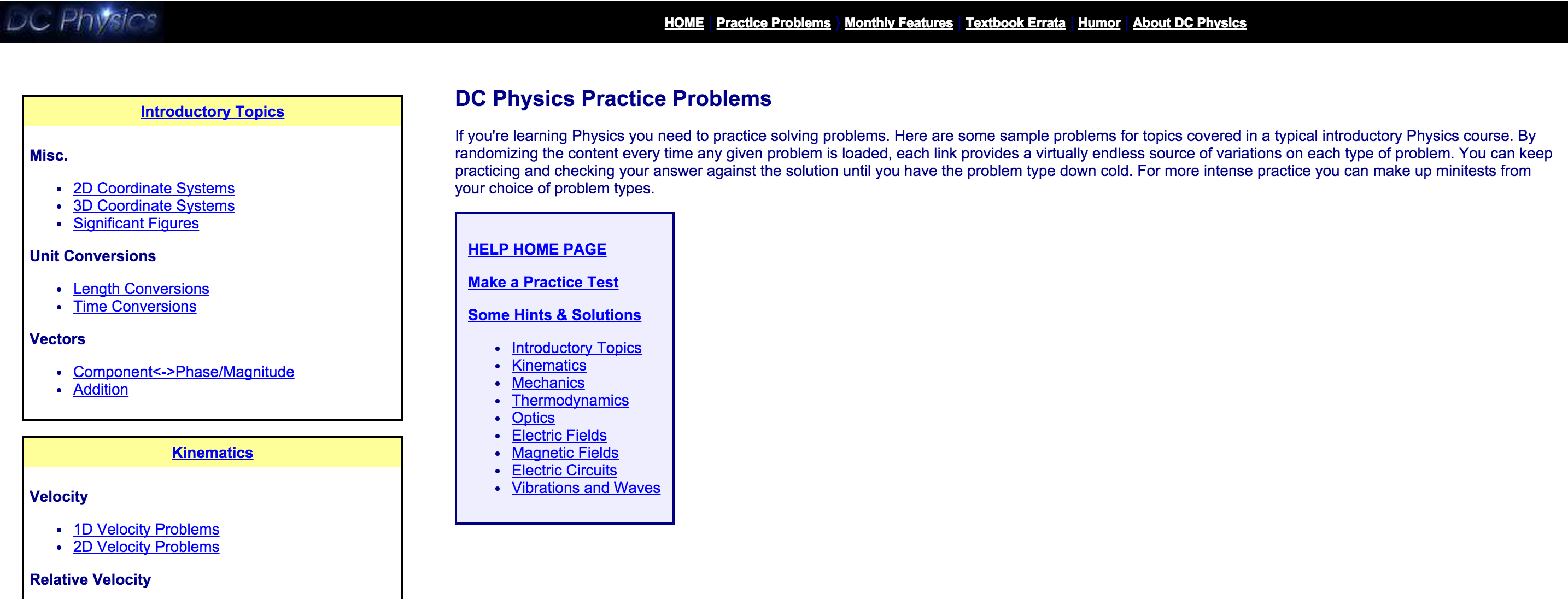 Physics practice problems